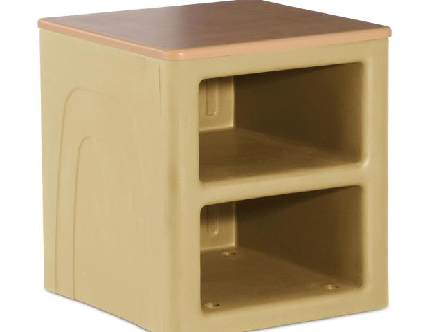Attenda Deluxe Nighstand - Mojave with Oak Wood Laminate Top